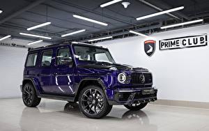 Fotos G-Modell Mercedes-Benz SUV Violett Metallisch 2020 TopCar G 350 d Violet Inferno Autos