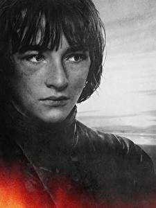 Bureaubladachtergronden Game of Thrones Close-up Jongeman Gezicht Bran Stark, Isaac Hempstead Wright film Beroemdheden