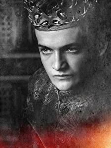 Papel de Parede Desktop Game of Thrones De perto Coroa Rosto Joffrey Baratheon Filme