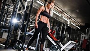 Bilder Gemma Atkinson Fitness Hantelstange junge Frauen