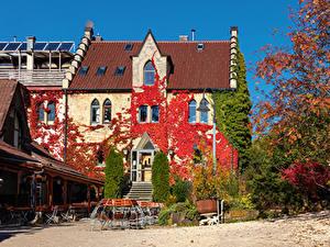 Hintergrundbilder Deutschland Herbst Gebäude Restaurant Straßenlaterne Swabian Alps