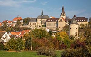 Fotos Deutschland Herbst Gebäude Bäume Warburg Städte