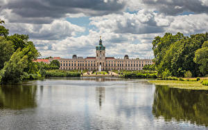 Pictures Germany Berlin Castles Clouds Palace Schloss Charlottenburg Cities