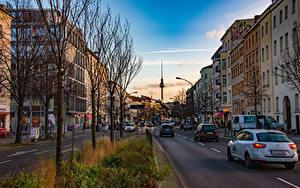 Hintergrundbilder Deutschland Berlin Haus Straße Bäume Türme Städte