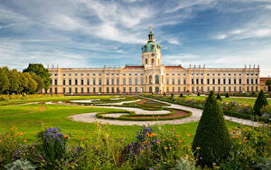 Picture Germany Berlin Landscape design Palace Lawn Charlottenburg Palace Cities