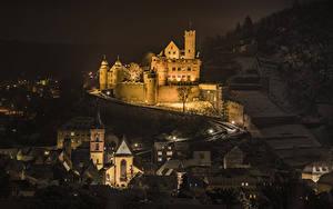 Hintergrundbilder Deutschland Burg Haus Nacht Wertheim Castle Städte