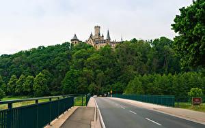 Hintergrundbilder Deutschland Burg Wege Wald Zaun Marienburg castle road in Pattensen Natur