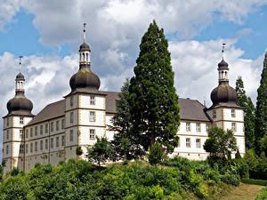 Bilder Deutschland Burg Bäume Schloss Sternberg Städte