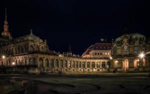 Hintergrundbilder Deutschland Dresden Palast Nacht Lichtstrahl Museen Zwinger palace Städte