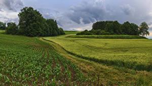 Hintergrundbilder Deutschland Felder Bayern Landkreis Augsburg