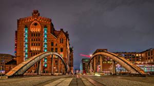 Fotos Deutschland Hamburg Haus Brücke