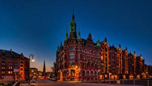 Bilder Deutschland Hamburg Haus Brücken Stadtstraße Straßenlaterne