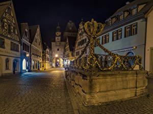 Hintergrundbilder Deutschland Gebäude Ostern Straße Nacht Design Rothenburg ob der Tauber Städte