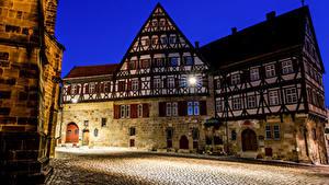 Hintergrundbilder Deutschland Haus Nacht Straßenlaterne Straße Esslingen