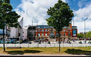 Fotos Deutschland Haus Zaun Bäume Kiel central train station Städte