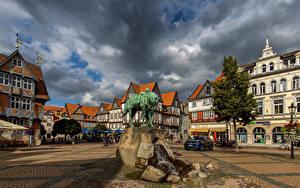 Fotos Deutschland Haus Denkmal Platz Wolke  Städte
