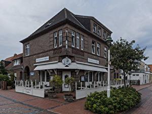 Fotos Deutschland Gebäude Stadtstraße Straßenlaterne Strauch Restaurant Norderney, Neptun