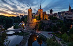 Hintergrundbilder Deutschland Gebäude Wege Fluss Brücke Nacht Bautzen Städte