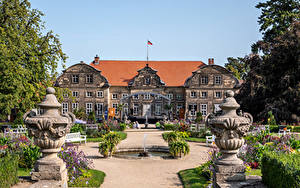 Wallpapers Germany Landscape design Fountains Palace Blankenburg (Harz) Cities