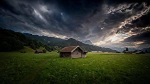 Bilder Deutschland Berg Bayern Wolke Alpen Garmisch-Partenkirchen Natur