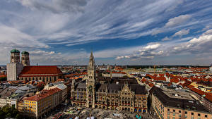 Bilder Deutschland München Gebäude Kathedrale Himmel Turm Frauenkirche Cathedral