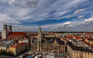Bilder Deutschland München Gebäude Kathedrale Himmel Turm Frauenkirche Cathedral Städte