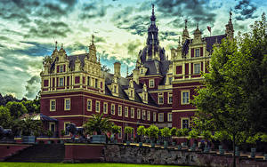 Picture Germany Palace Muskau Park Cities
