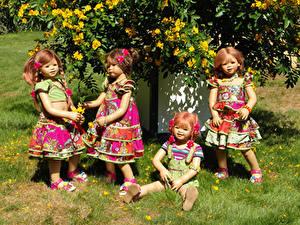 Fonds d'écran Parc Campsis Poupée Les robes Petites filles Herbe Grugapark Essen Nature