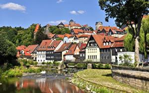 Fotos Deutschland Fluss Gebäude Bayern Kronach Städte
