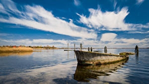 Fotos Deutschland Himmel Boot Meer Wolke