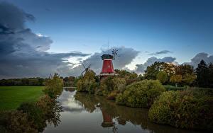 Hintergrundbilder Deutschland Himmel Windmühle