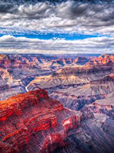 Bilder Grand Canyon Park USA Park Wolke Felsen
