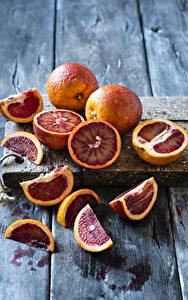 Bilder Grapefruit Bretter Stücke Schneidebrett Lebensmittel