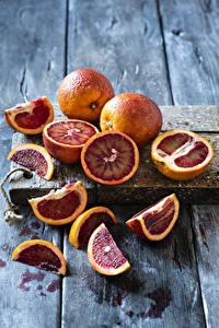 Bilder Grapefruit Bretter Stück Schneidebrett Lebensmittel