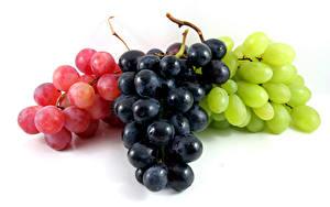 Fotos Weintraube Weißer hintergrund Bunte das Essen