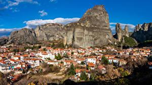Fotos Griechenland Gebirge Gebäude Felsen Meteora, Kastraki Städte