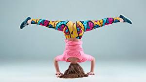 Fotos Gymnastik Bein Sport Mädchens