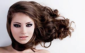 Hintergrundbilder Haar Braune Haare Schminke Model Gesicht