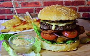 Bilder Burger Fast food Gemüse Brötchen