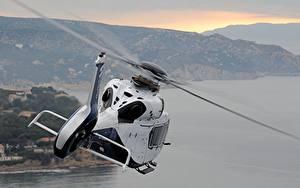 Fotos Hubschrauber Airbus Flug Weiß Hinten H160