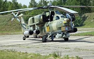 Bilder Hubschrauber Tarnung Russischer Mi-28 Night hunter