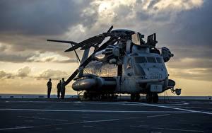 Hintergrundbilder Hubschrauber US US Marine Corps, CH-53E Super Stallion