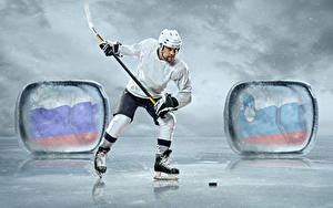 Wallpapers Hockey Men Uniform Ice rink athletic