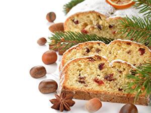 Fotos Feiertage Neujahr Backware Schalenobst Keks Rosinen Ast