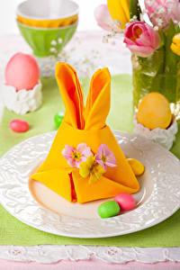 Bilder Feiertage Ostern Ei Teller Design