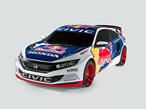 Fotos Honda Tuning Grauer Hintergrund Rallye 2016 Civic Coupe Rallycross Autos
