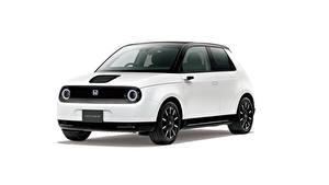 Fotos Honda Weiß Metallisch Weißer hintergrund e, JP-spec, 2020 auto