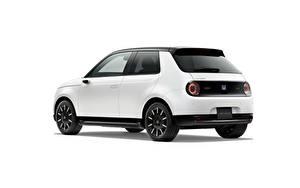 Bilder Honda Weiß Metallisch Weißer hintergrund e, JP-spec, 2020 Autos
