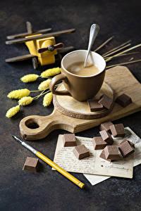 Hintergrundbilder Hot chocolate Schokolade Schneidebrett Tasse Lebensmittel
