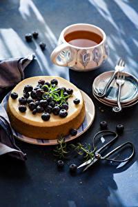Hintergrundbilder Kakao Getränk Süßware Heidelbeeren Obstkuchen Tasse Teller Lebensmittel